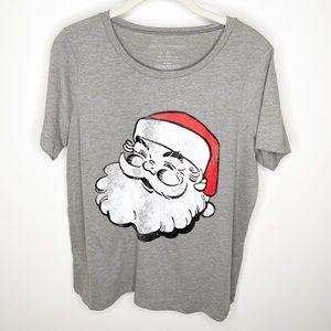 Grayson Threads Santa face retro graphic tshirt